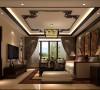 客厅具有内蕴的风格,为了舒服,中式的环境中也常常用到沙发,但颜色仍然体现着中式的古朴,中式这样表现使整体空间,传统中透着现代,现代中揉着古典