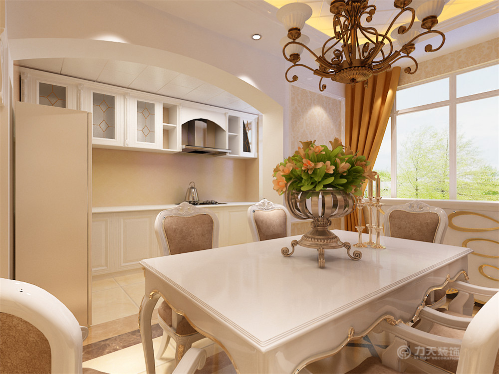 欧式 三居 白领 收纳 80后 小资 餐厅图片来自阳光放扉er在泉升佳苑-130㎡-欧式风格的分享