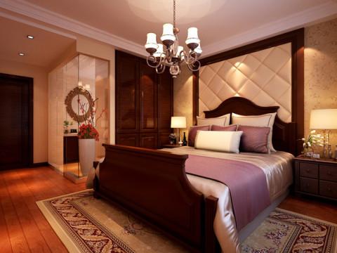卧室的布置较为温馨,其主人的私密空间,主要是以功能性和舒适性为设计重点。木质家具显示出古典的韵味。在色彩搭配上,采用了暖色调,进而和淡雅的墙面相呼应。