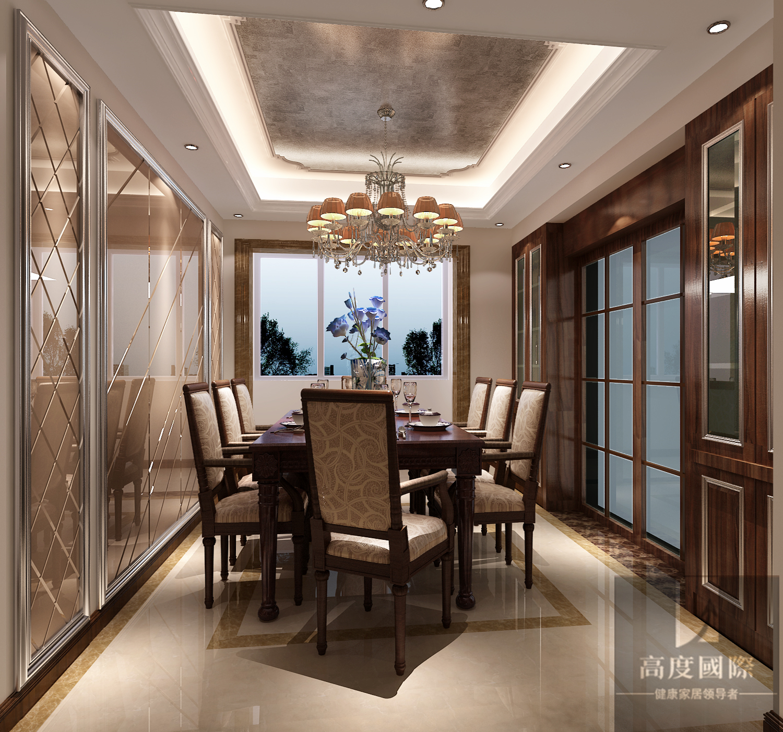 三居 简约 欧式 北京装修 北京设计 餐厅图片来自高度国际装饰韩冰在天竺新新家园137㎡简欧效果的分享