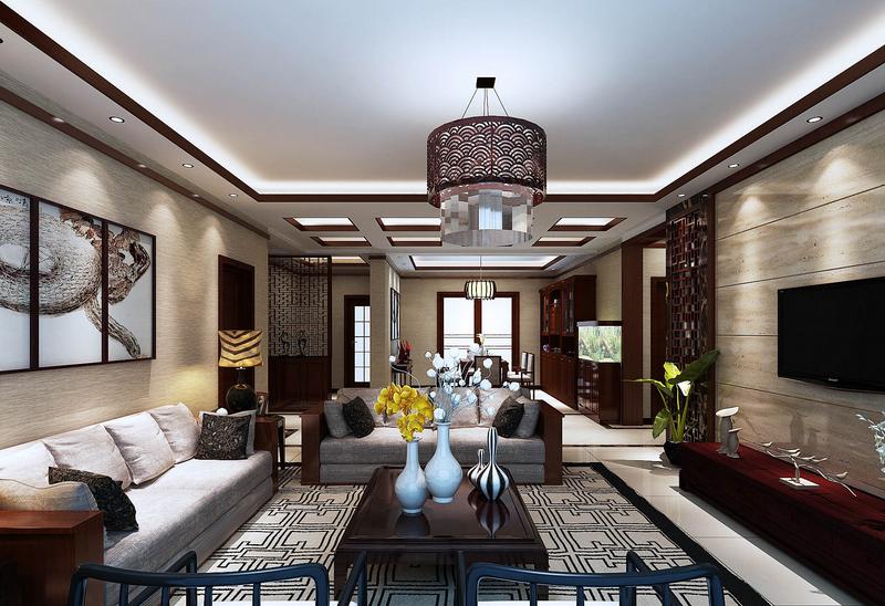 客厅图片来自亚光亚装饰神设手马然在大气中式的分享