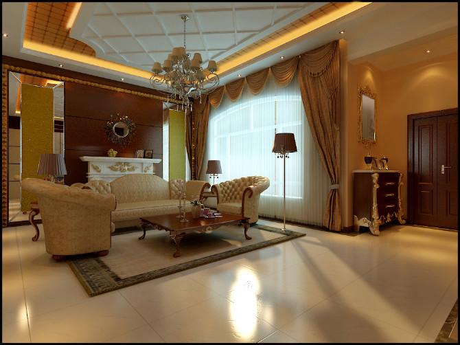 武汉实创 融科天城 美式风格 130平 别墅装修 客厅图片来自静夜思在融科天城130平简练美式装修设计的分享
