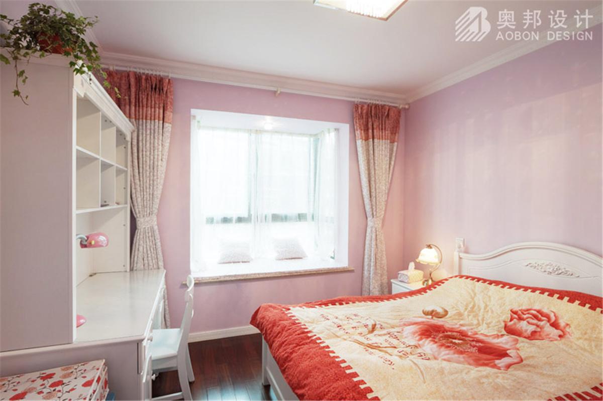 汇智湖畔 三居室设计 奥邦装饰 高娟作品 新欧式 卧室图片来自上海奥邦装饰在汇智湖畔148平D1户型新欧式设计的分享