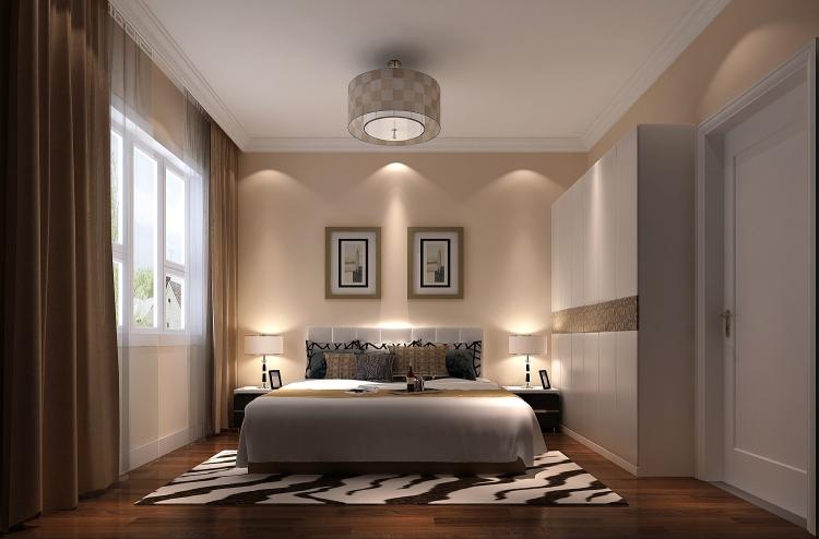 现代 中式 别墅 白领 小资 卧室图片来自沙漠雪雨在8哩岛280㎡现代风格中式别墅的分享
