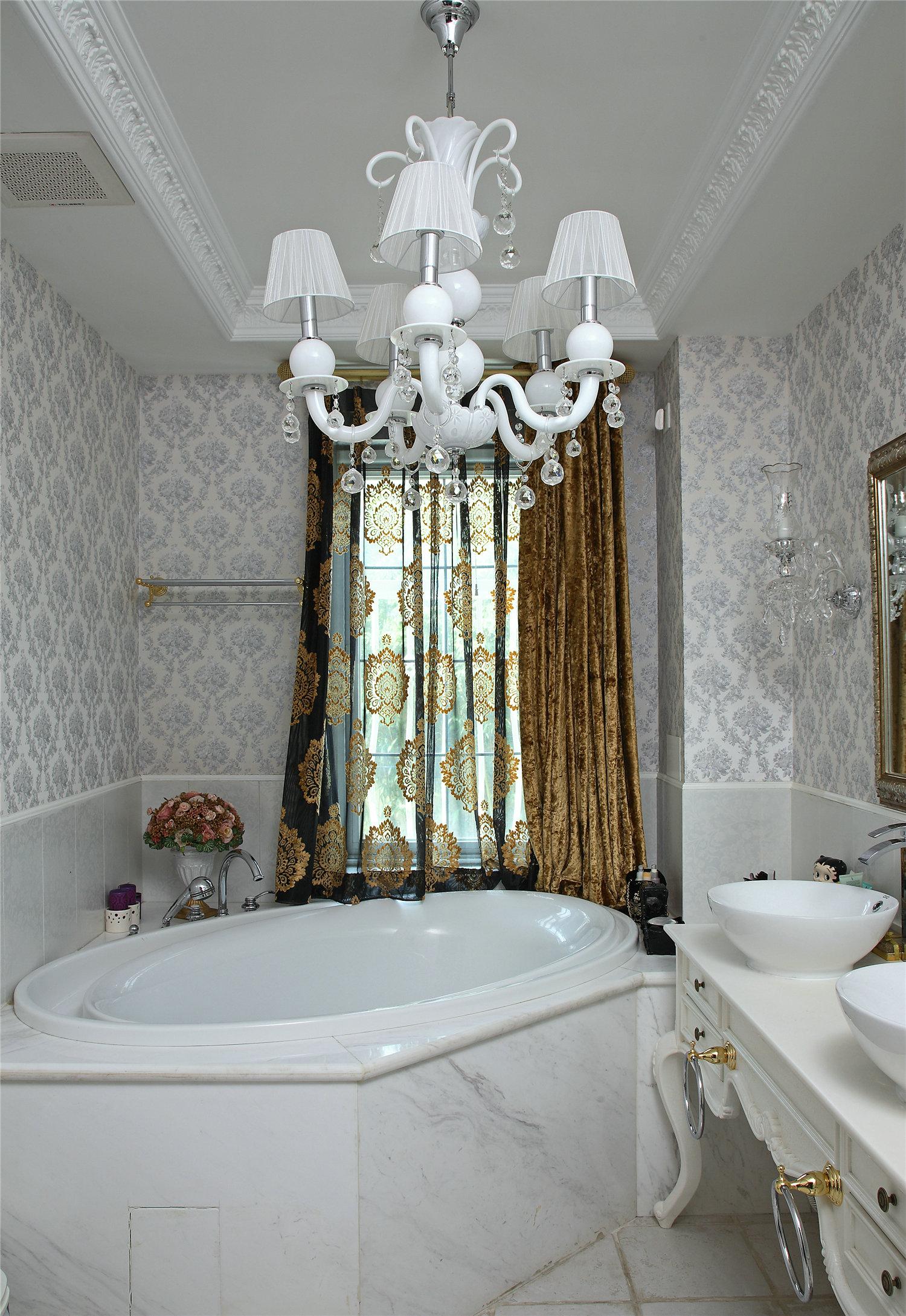 别墅 英式古典 大户型 豪宅 卫生间图片来自实创装饰晶晶在实景传统古典的空间布局的分享