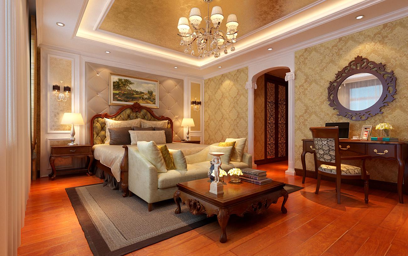 欧式 经典 三居 丽都东镇 小资 卧室图片来自北京实创装饰集团在150平米三居室的欧式经典的分享