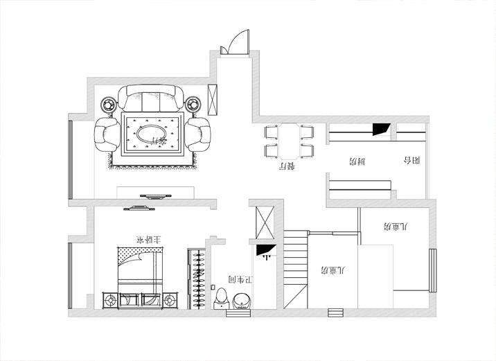 天津实创 华润橡树湾 二居 简欧 装修效果图 户型图图片来自实创装饰小赵在橡树园 7.5营造86平简欧之家的分享