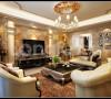 欧式风格效果图客厅和电视背景墙