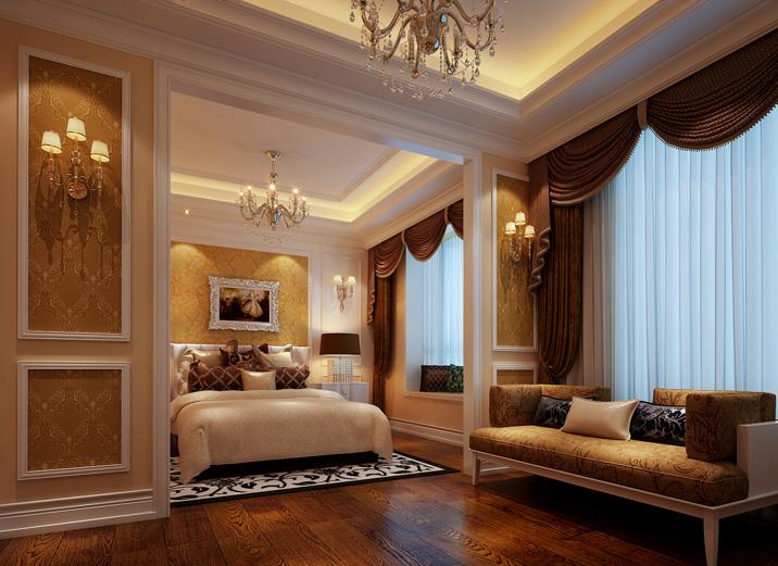 法式设计 肖爱芝 320平设计 实创装饰 卧室图片来自xushuguang1983在合二为一 320平奢华浪漫法式设计的分享