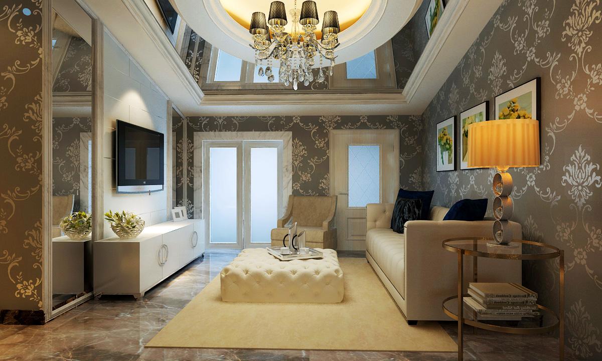 别墅 客厅图片来自石家庄品界国际装饰在新古典锦麟260平的分享