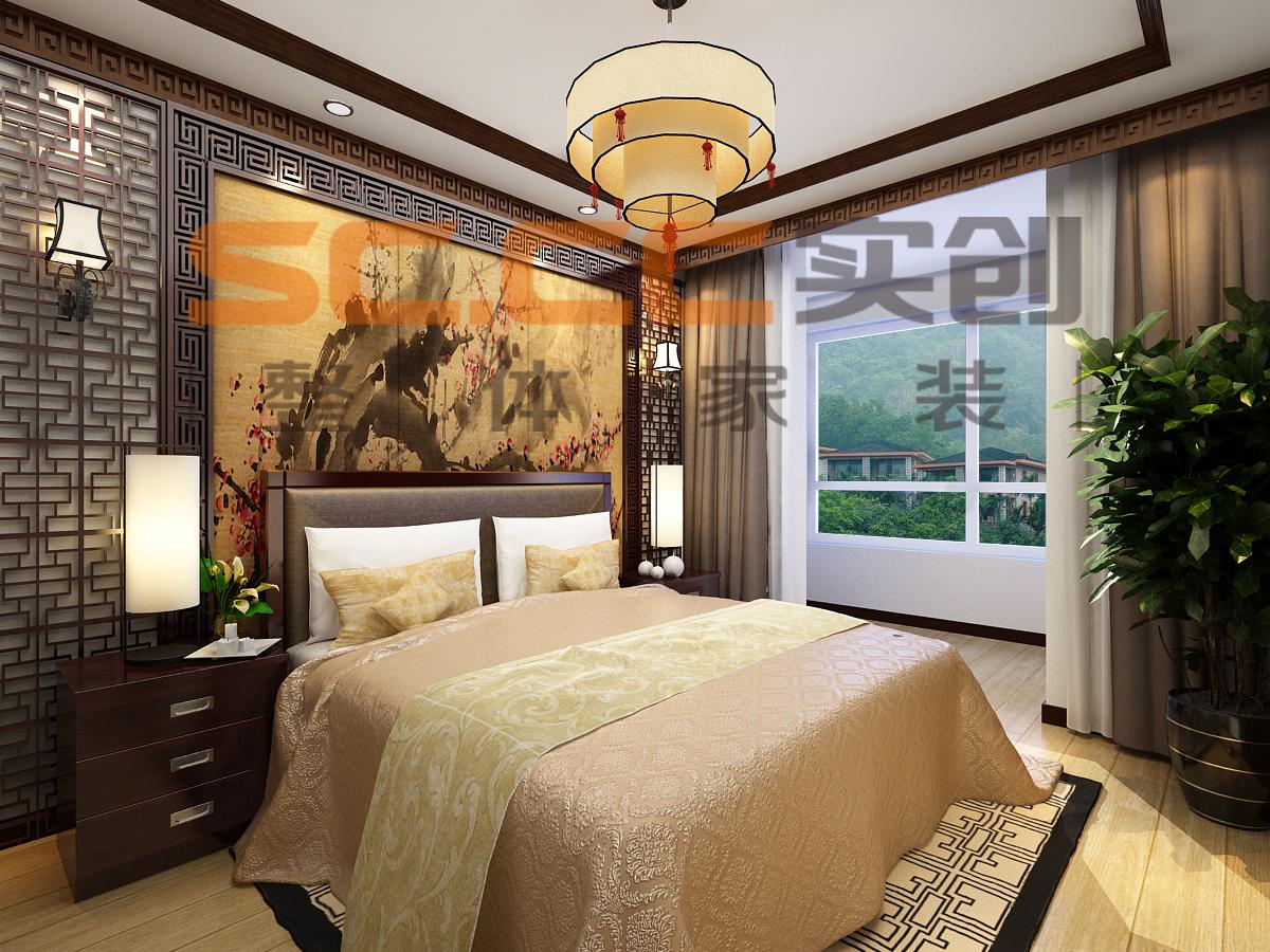 欧式 混搭 中式 二居 隆豪恒基 西宁实创 卧室图片来自西宁实创装饰在隆豪恒基104简欧vs中式大比拼的分享