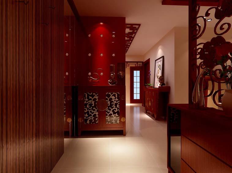 中式 翠城 三居 白领 收纳 80后 小资 玄关图片来自实创装饰百灵在华丽中式风格 从来只用细节说话的分享