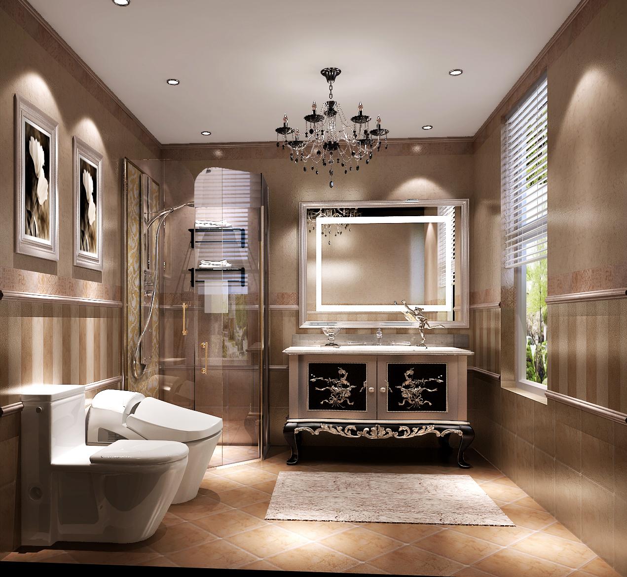 欧式 别墅 尊贵 大理石 温馨 卫生间图片来自高度国际装饰刘玉在燕西台别墅---尊贵气质的分享