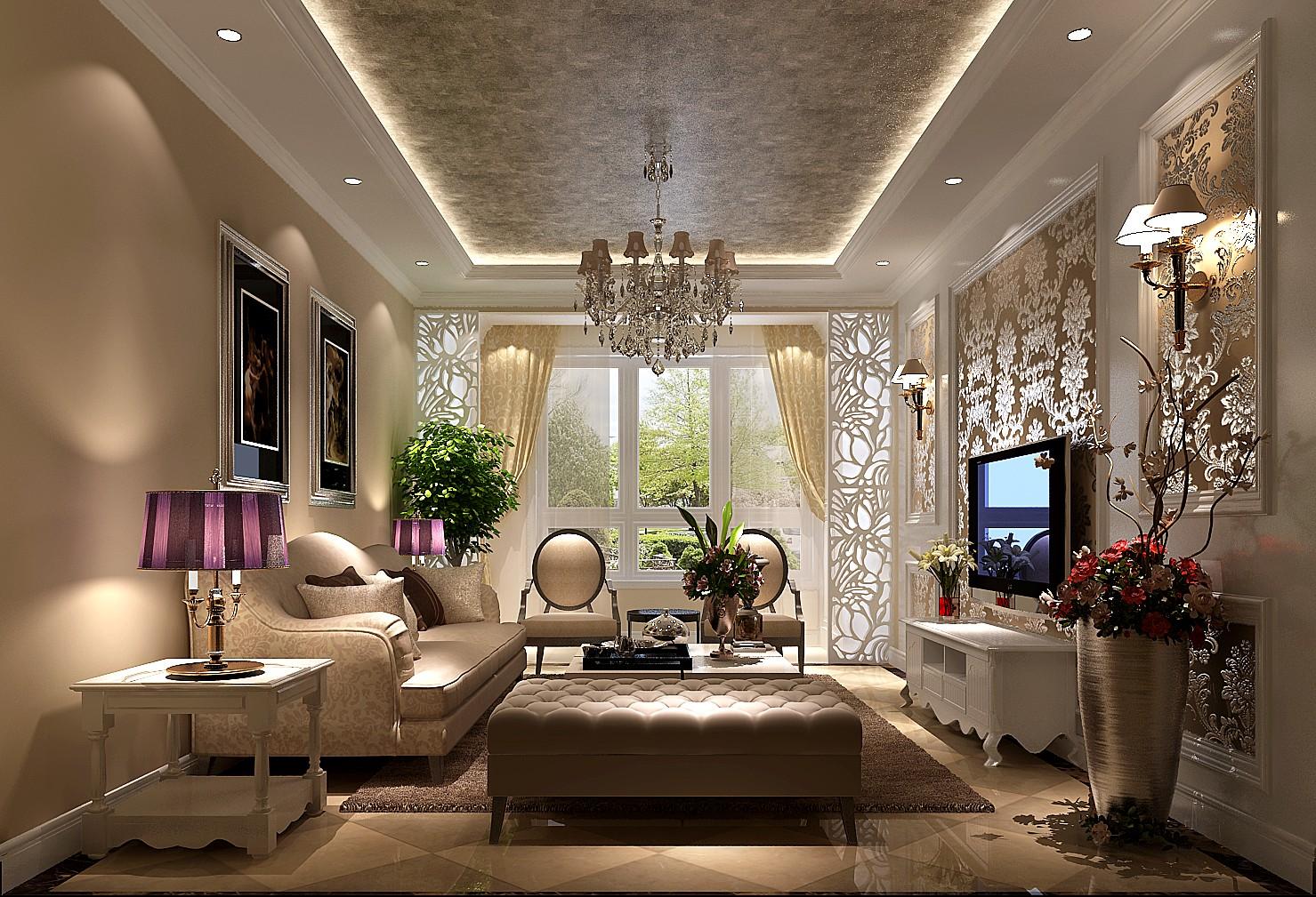 简约 美式 田园 二居 三居 K2百合湾 高度国际 白领 80后 客厅图片来自北京高度国际装饰设计在K2百合湾美式来袭的分享