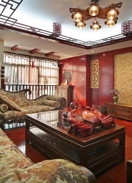 中式风格 别墅 传统时尚 清水苑 郑州业之峰 客厅图片来自文金春在静谧雅居,清水苑别墅装修效果图的分享