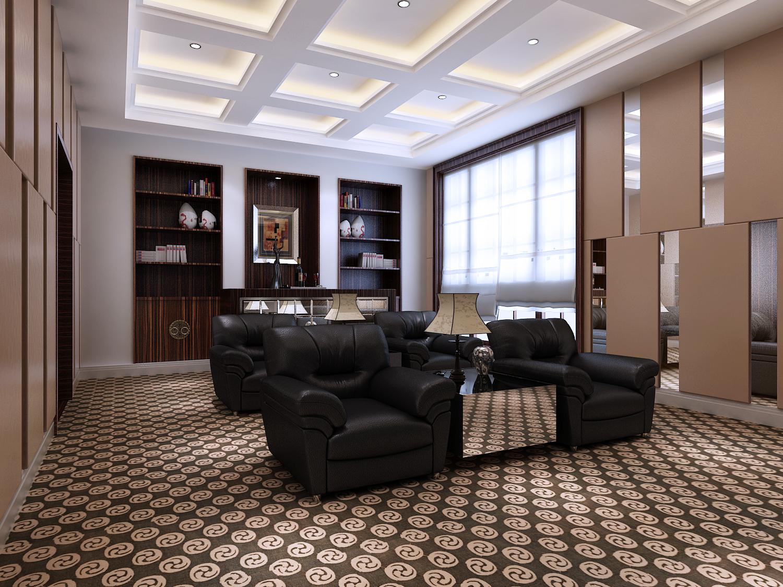 新中式 别墅装修 别墅设计 尚层装饰 书房图片来自尚层别墅装饰在打破了中式风格传统色彩的分享