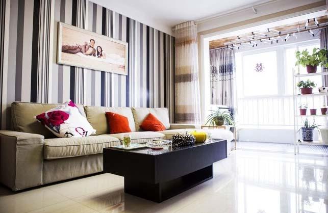 半包装修 轻工辅料 大红门 温馨简约风 婚房装修 旧房改造 客厅图片来自北京今朝装饰在温馨简约婚房---简单确是爱的分享