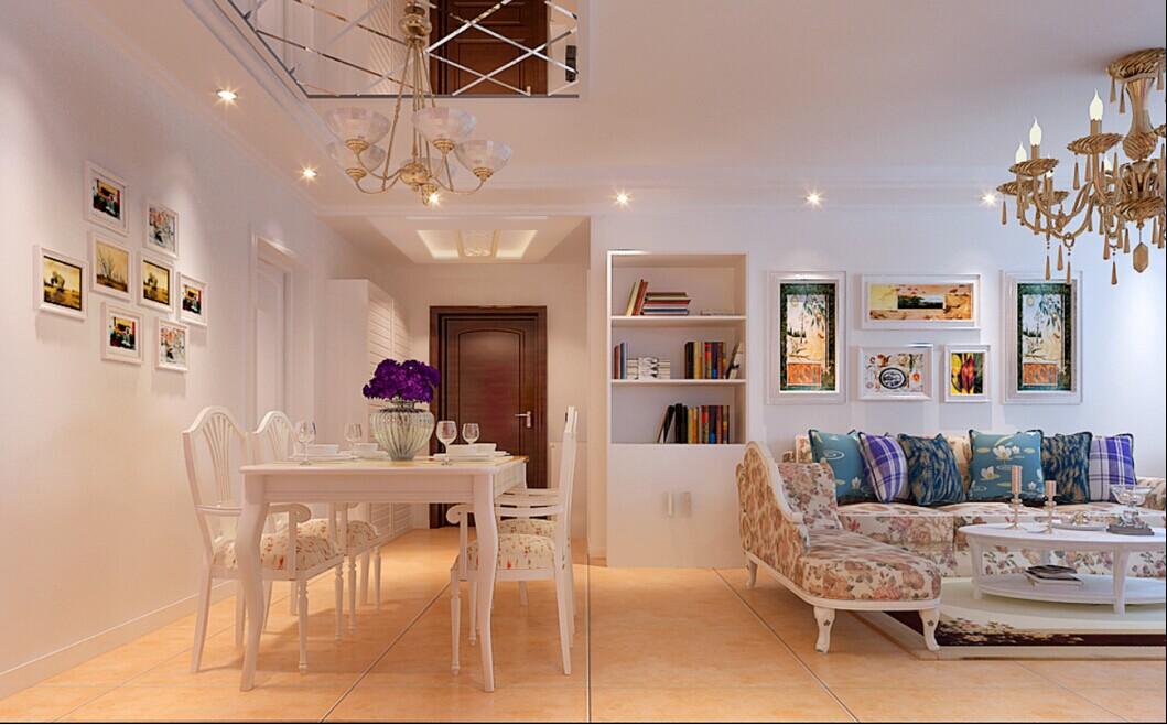 田园 二居 实创装饰 家庭装修 客厅图片来自实创整体家装在96平2居室田园风格幸福家居的分享