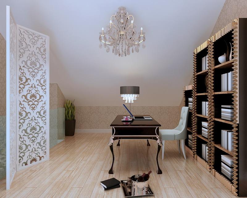 欧式 三居 白领 收纳 80后 小资 书房图片来自实创装饰百灵在150㎡三居13w打造舒适温馨家园的分享