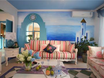 白+蓝+的浪漫地中海风情
