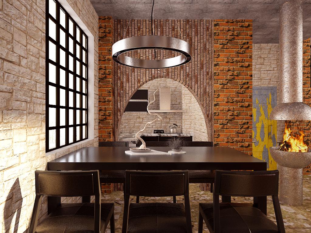 旧房改造 厂房改造 loft 餐厅图片来自百家装饰小姜在厂房改造soho的分享