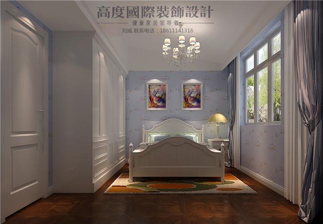 美式 简约 四居 别墅 卧室图片来自高度国际装饰设计刘威在裕祥花园四室两厅美式简约的分享