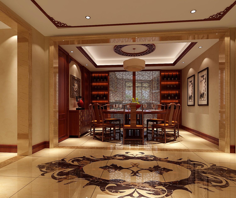 三居 中式 北京装修 北京设计 温馨 餐厅图片来自高度国际装饰韩冰在中信府世家190㎡中式的分享
