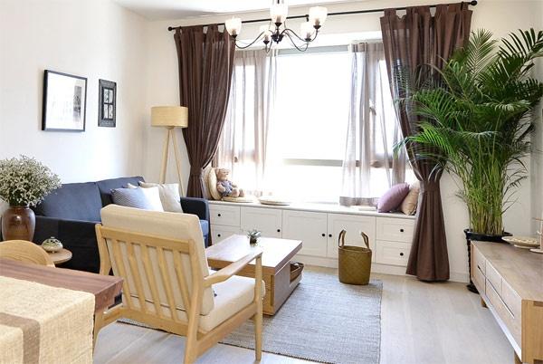 客厅图片来自家装大管家在人文气质 70平优雅日系二人世界的分享