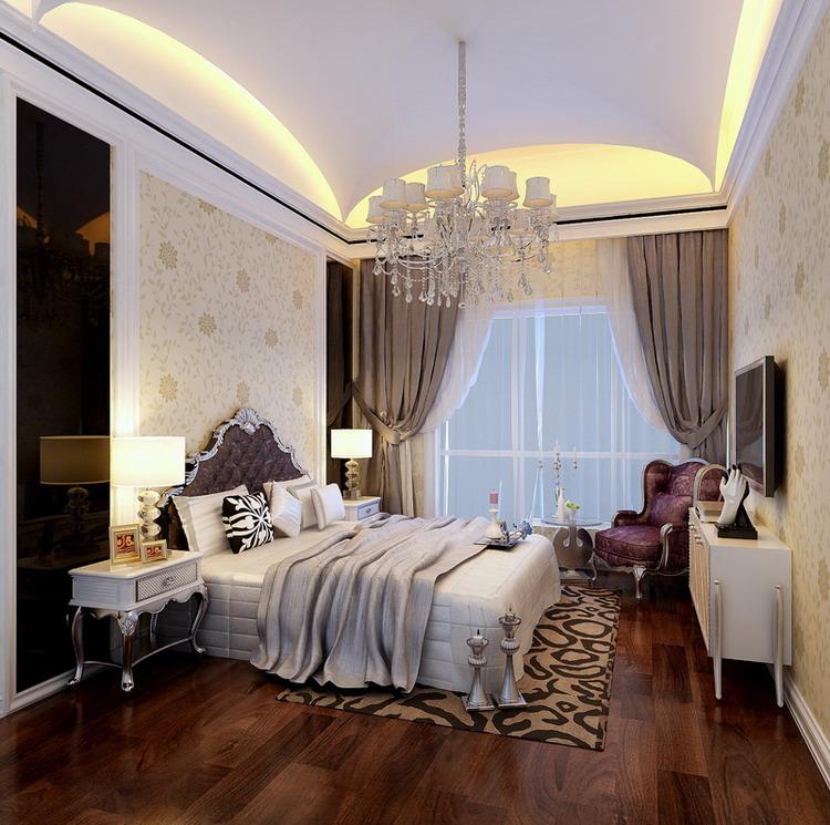 欧式 三居 白领 收纳 80后 小资 卧室图片来自实创装饰百灵在150㎡三居13w打造舒适温馨家园的分享