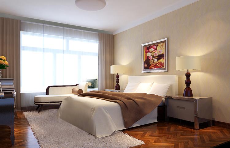简约 现代 三居 白领 80后 小资 卧室图片来自沙漠雪雨在长滩一号89㎡现代简约三室的分享