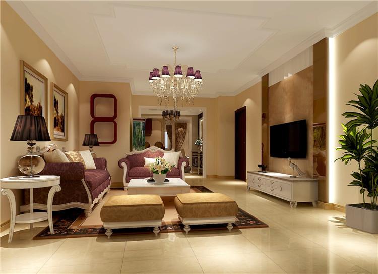 简约 欧式 三居 白领 80后 小资 客厅图片来自沙漠雪雨在中海香克林136平简欧公寓的分享