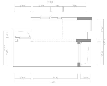 简约 欧式 田园 混搭 二居 三居 白领 收纳 旧房改造 户型图图片来自北京实创装饰在强佑清河新城140平米简约婚房的分享