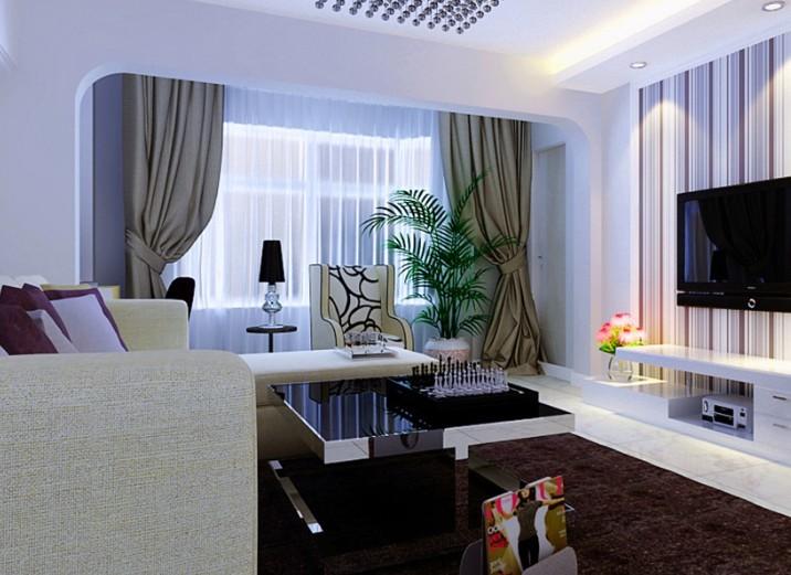 客厅图片来自shichuangyizu在老房改造小户型现代温馨小屋的分享