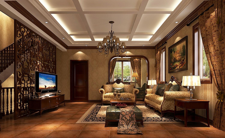 托斯卡纳 别墅 小资 庄重 浪漫 温馨 客厅图片来自高度国际装饰刘玉在漫长岁月的磨砺与考验的分享