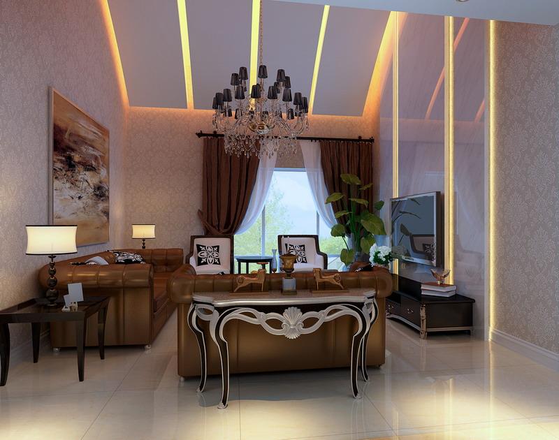 欧式 三居 白领 收纳 80后 小资 客厅图片来自实创装饰百灵在150㎡三居13w打造舒适温馨家园的分享