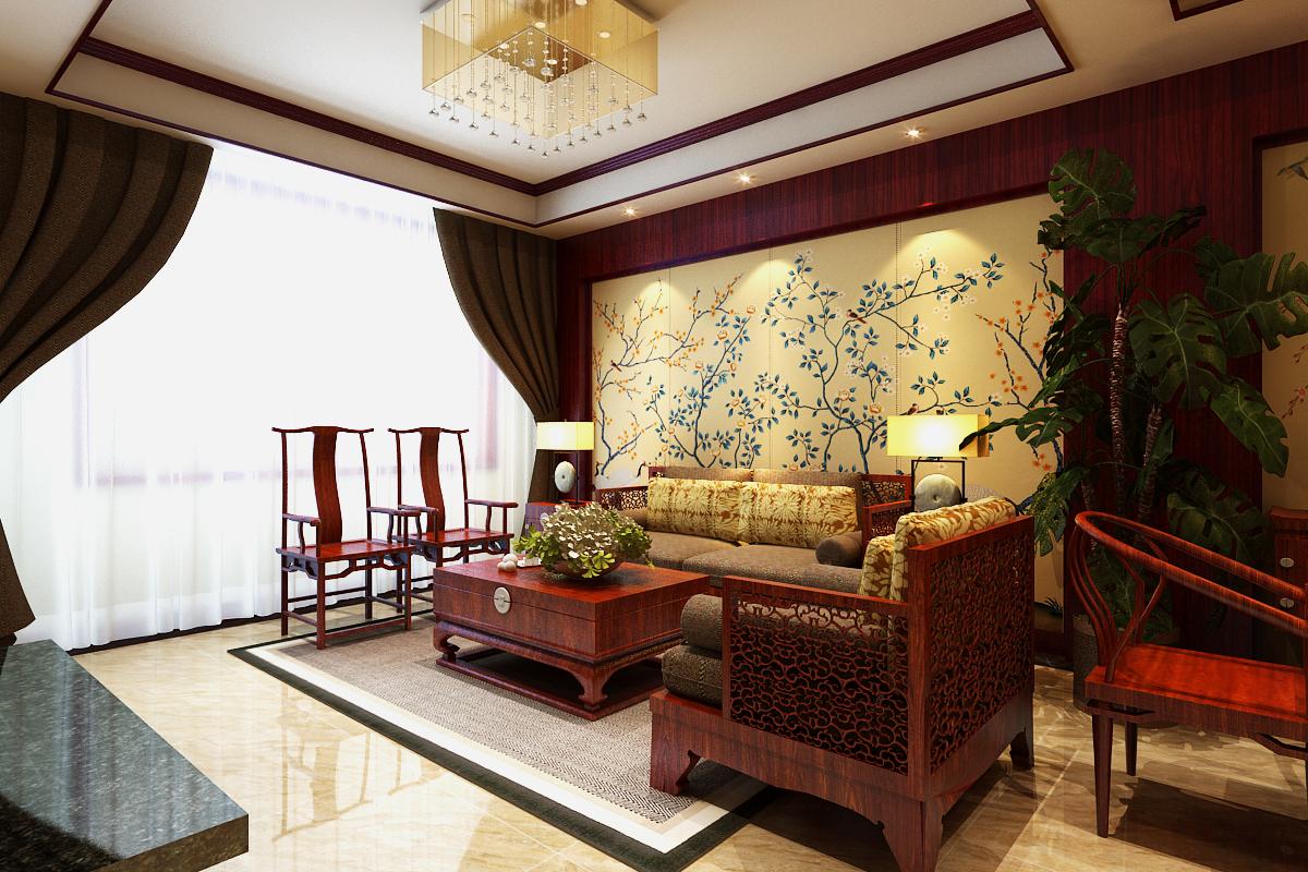 客厅图片来自石家庄品界国际装饰在石家庄大郭东园300新中式装修的分享
