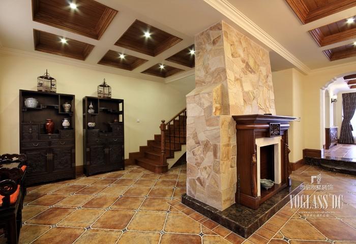 田园 别墅 京基领域 楼梯图片来自天津别墅装修公司在冷暖补色设计的别墅色彩搭配的分享
