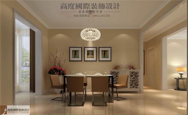简约 现代 四句 餐厅图片来自高度国际装饰设计刘威在影人四季四室两厅现代风格的分享