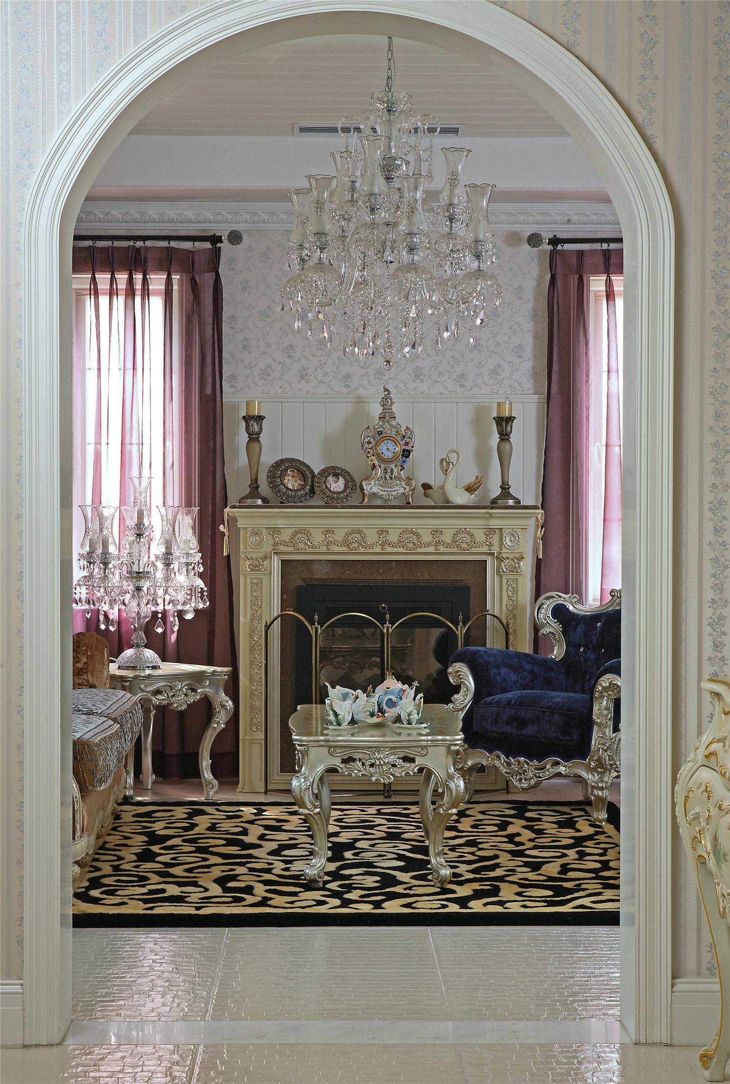 别墅 英式古典 大户型 豪宅 玄关图片来自实创装饰晶晶在实景传统古典的空间布局的分享