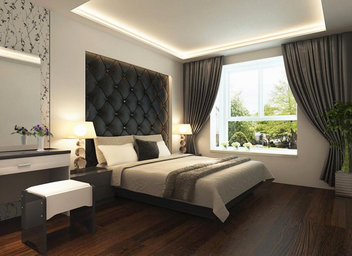 简约 二居 白领 80后 小资 现代简约 两居室装修 简约装修 卧室图片来自北京实创装饰石头在三口之家三居室,个性、现代的分享