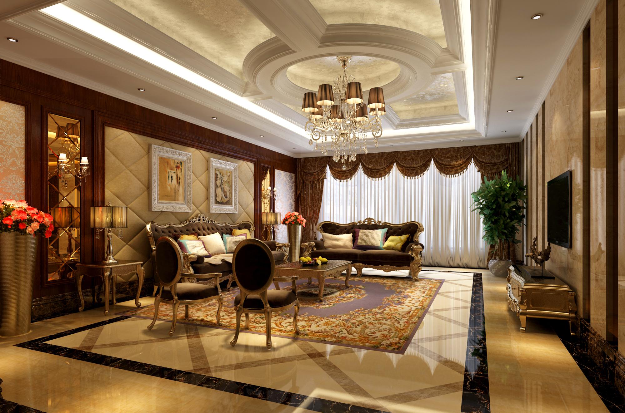 别墅 欧式 别墅设计 别墅装修 奢华 气质 客厅图片来自高度国际装饰韩冰在玲珑塔欧式奢华缔造经典的分享