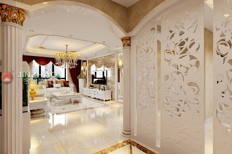 欧式 平阳景苑 装潢 效果图 客厅图片来自用户3141518091在平阳景苑170平欧式装修效果图的分享