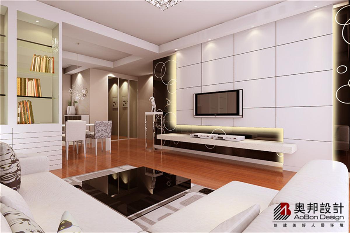 汇智湖畔 两居室户型 现代简约 奥邦装饰 高娟作品 客厅图片来自上海奥邦装饰在汇智湖畔两居室现代简约风格设计的分享
