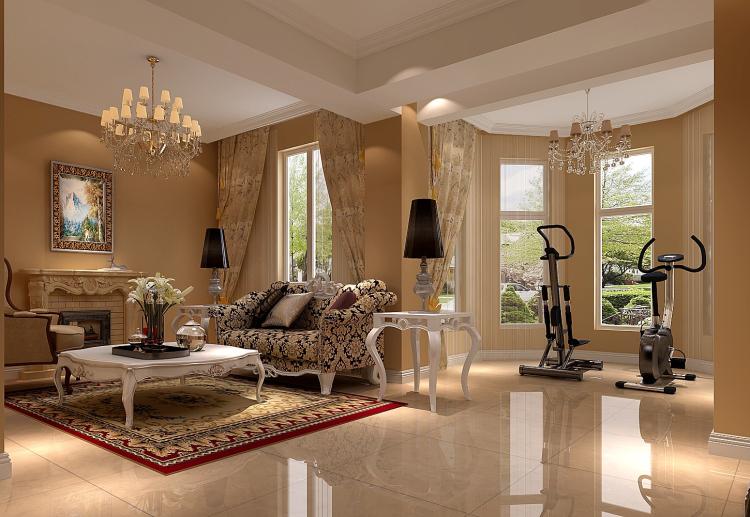 欧式 白领 80后 小资 公寓 客厅图片来自沙漠雪雨在鸿坤罗纳河谷180㎡欧式公寓的分享