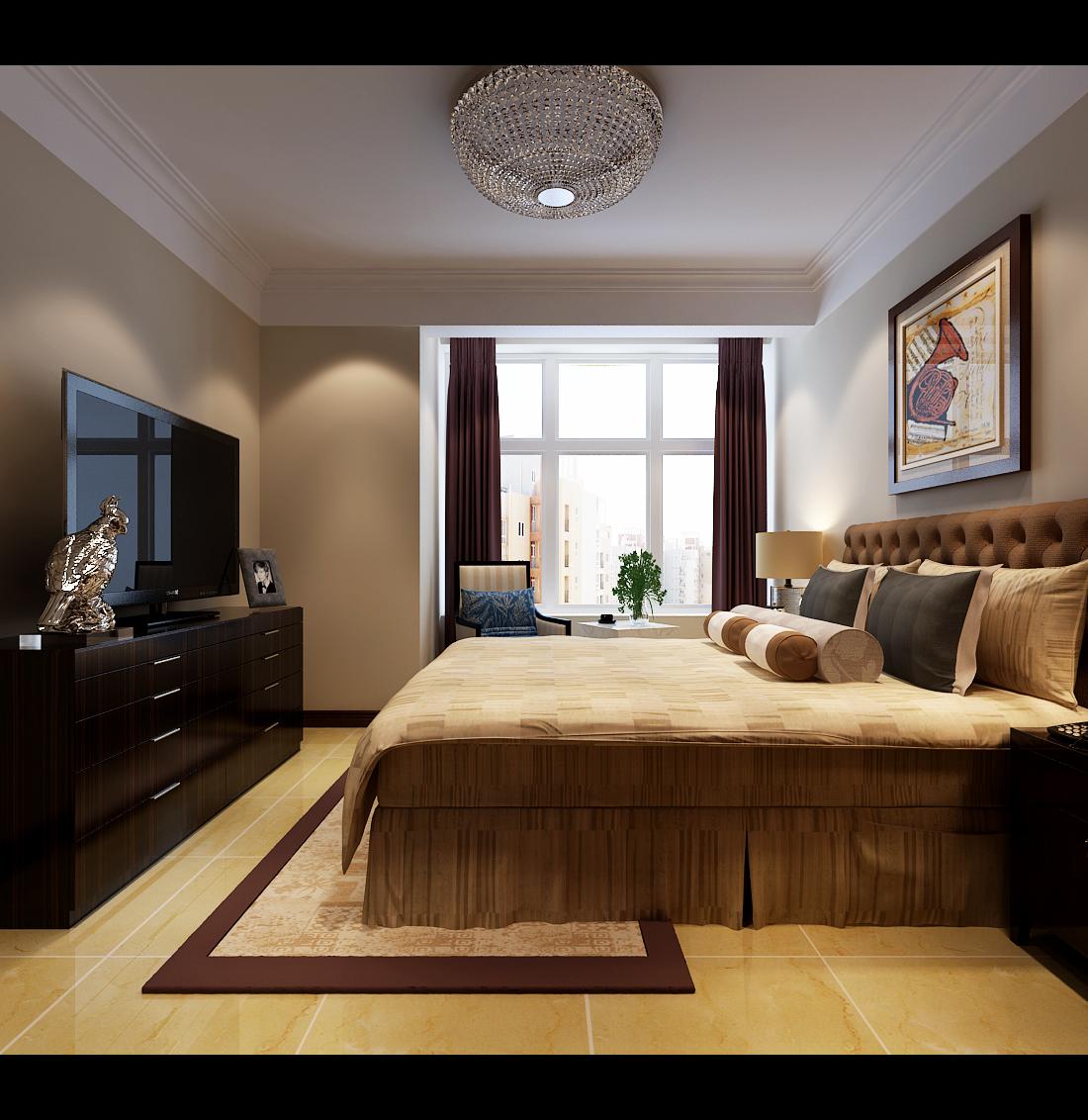 简约 三居 卧室图片来自楠得经典在石家庄裕华万达广场的分享