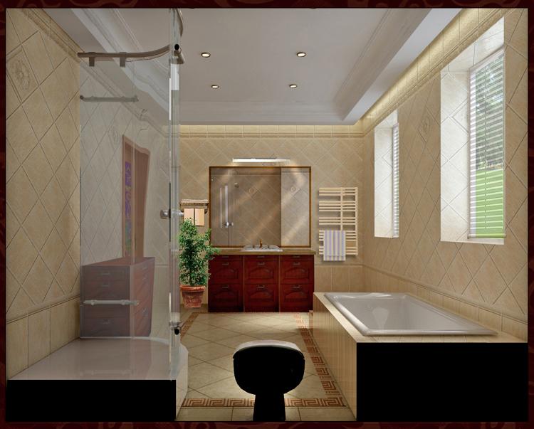 混搭 别墅 卫生间图片来自今朝装饰小俊在玫瑰园别墅的分享