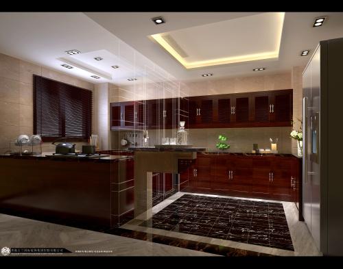 中式 别墅装修 装修图片 新中式 奢华 厨房图片来自香港古兰装饰-成都在中海城南一号中式装修设计别墅的分享