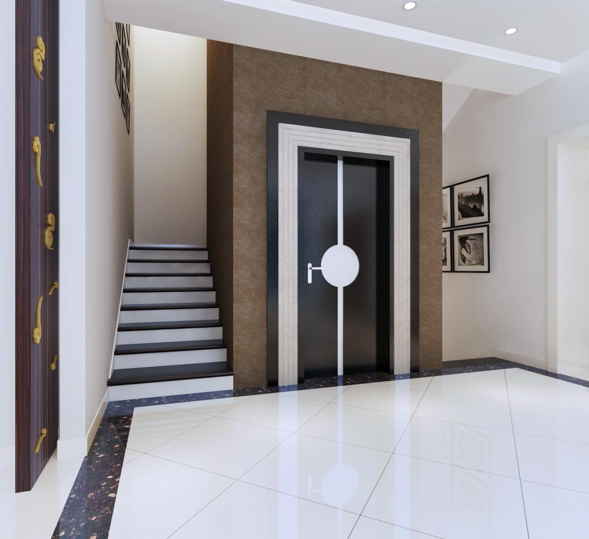 新中式 别墅装修 别墅设计 尚层装饰 楼梯图片来自尚层别墅装饰在打破了中式风格传统色彩的分享