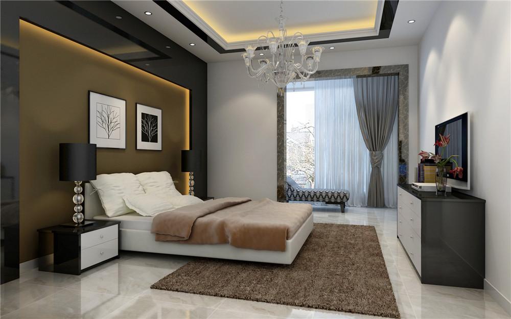 现代简约 三居设计 功能间齐全 简单时尚 卧室图片来自上海实创-装修设计效果图在173平米现代时尚的设计的分享