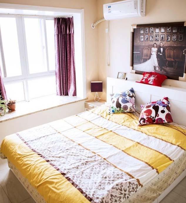 半包装修 轻工辅料 大红门 温馨简约风 婚房装修 旧房改造 卧室图片来自北京今朝装饰在温馨简约婚房---简单确是爱的分享